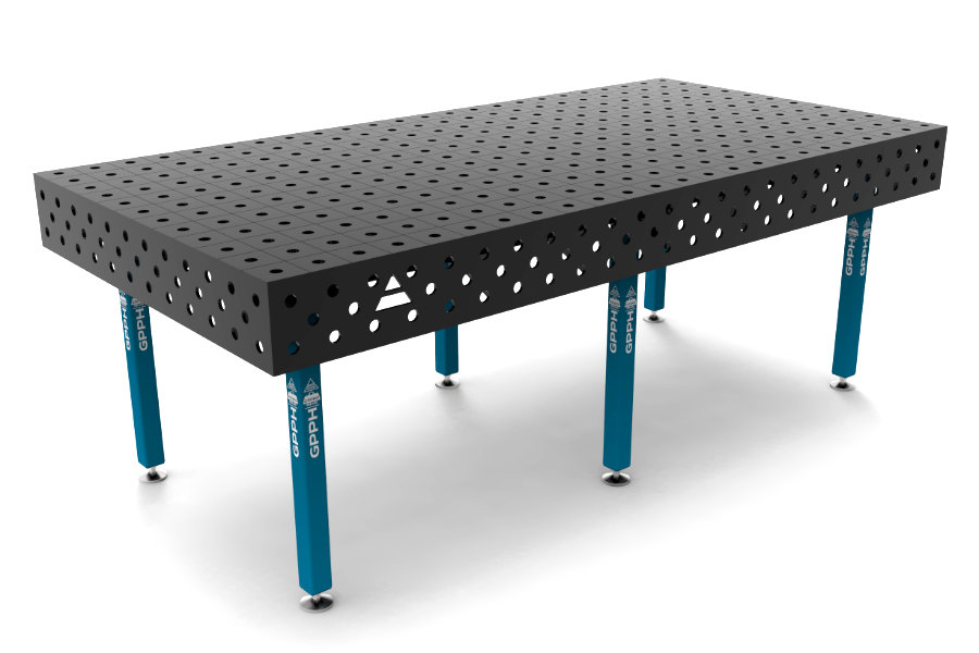 GPPH ECO 2400x1200 mm hagyományos hegesztőasztal