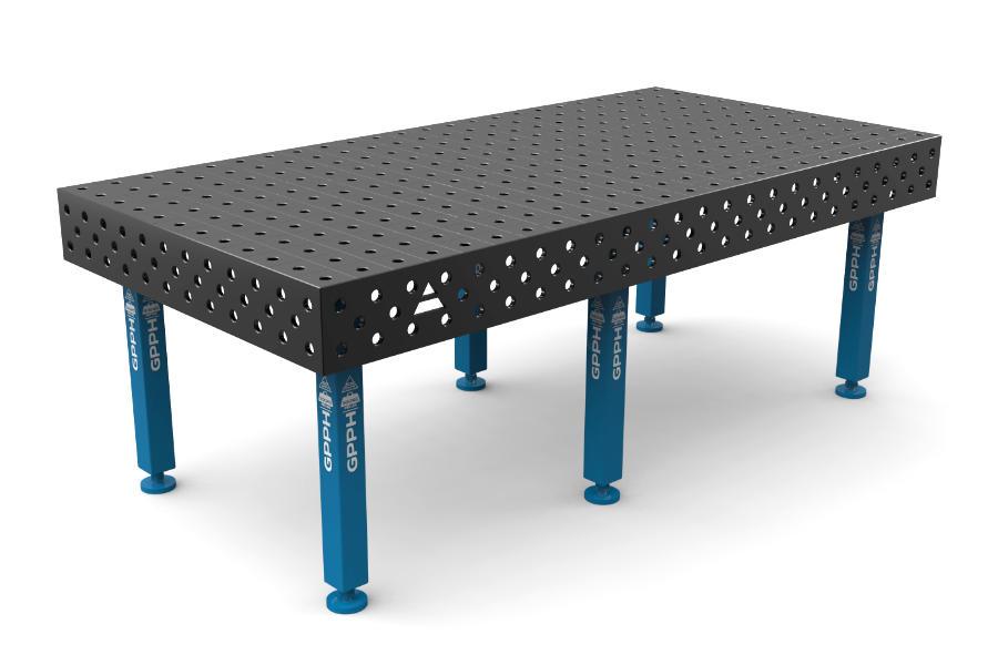 GPPH PLUS 2400x1200 mm hagyományos hegesztőasztal
