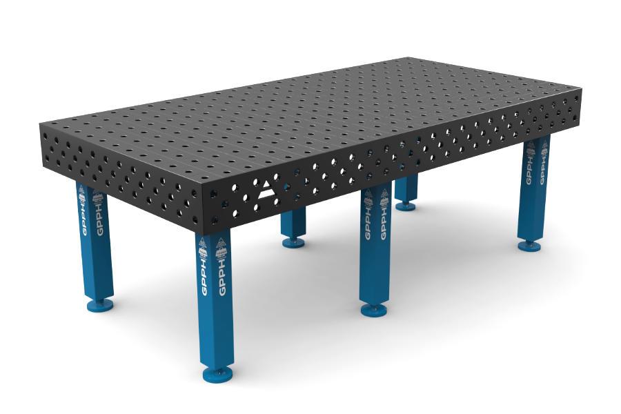 GPPH PRO 2400x1200 mm hagyományos hegesztőasztal